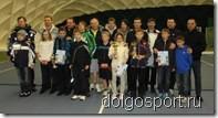 Теннис в Долгопрудном. Участники турнира семейных пар в Пялово.
