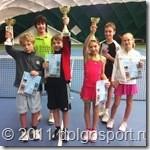 Большой теннис в Долгопрудном. Участники Новогоднего турнира с наградами