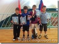Турнир в Пироговском - призёры. Никита Щелкунов - второй слева.