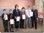 Команда Долгопрудного на командном первенстве МО по шахматам